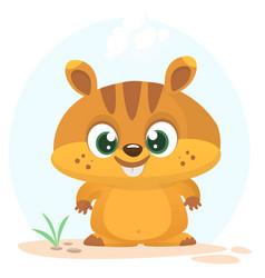 cartoon marmot icon vector image vector image