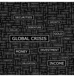 Global crisis vector