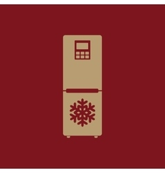 The icebox icon Fridge and refrigerator symbol vector image