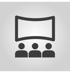 The movie house icon Theater and show cinema vector image