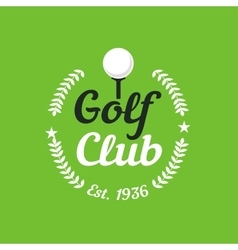 Vintage color golf championship badge vector image vector image