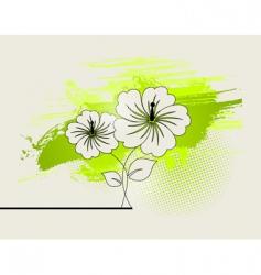 abstract ikebana vector image