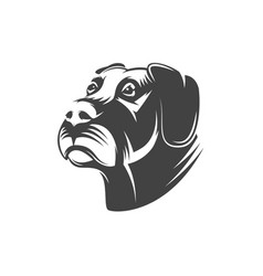 Dog head isolated on white background vector