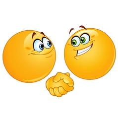 handshake emoticons vector image