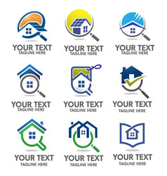 home search vector image vector image