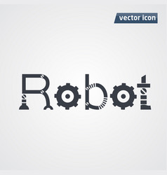 robot letters vector image