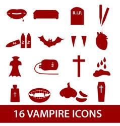 Vampire icon set eps10 vector