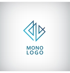 Abstract universal premium logo design Creative vector image vector image