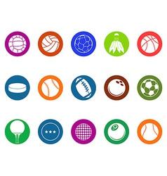 ball button icons set vector image vector image