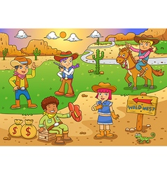 cawboy vector image vector image