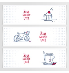 drink ride bite banners horizont vector image