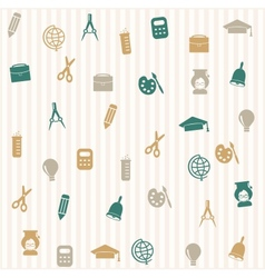 School seamless pattern 3 vector image vector image
