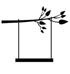 tree swing icon image vector image