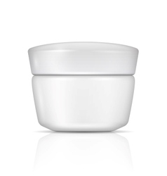 White body cream can with lid vector image vector image