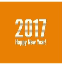 2017 Happy new yea vector