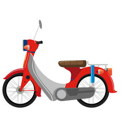 A classic motorbike on white background vector