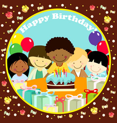 a of a birthday card vector image
