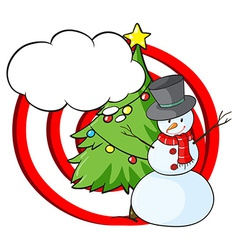 A snowman with an empty callout vector image