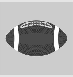 american football ball isolated rugby sport icon vector image