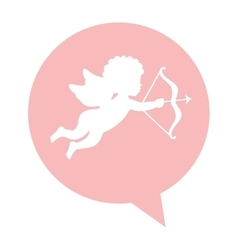Angel cupid isolated icon vector