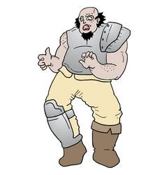 angry barbarian vector image