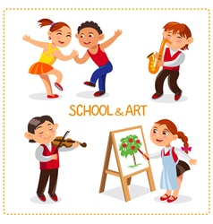 Art school and hobby vector image