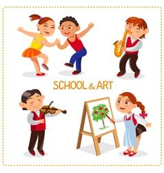 Art school and hobby vector