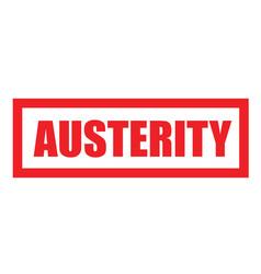 Austerity sticker stamp vector