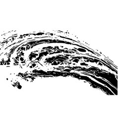 black and white marble texture vector image