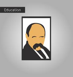 Black and white style icon taras shevchenko vector