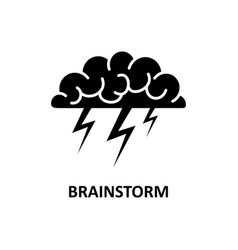 brain brainstorming idea creativity vector image