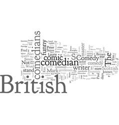 British comedians vector