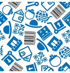 Business and on-line shopping pattern vector image