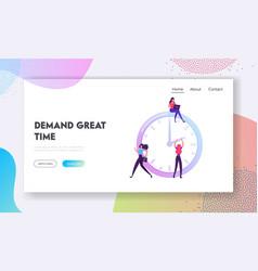 Business process time management website landing vector
