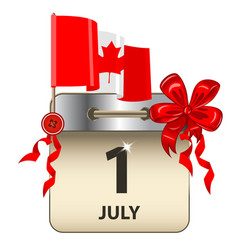 canada day calendar vector image
