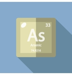 Chemical element Arsenic Flat vector
