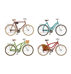 Classic bike set icons retro bicycle cycle vector