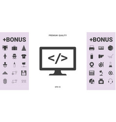 Coding symbol icon - graphic elements for your vector