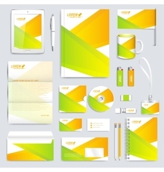 Colorful geometric set of corporate vector