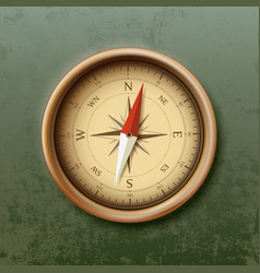 compass with arrow in retro style vector image