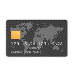 credit card mockup template vector image