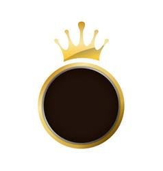 Crown decorative emblem vector