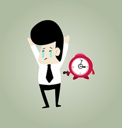 cry businessman vector image
