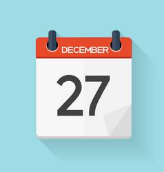 December 27 Calendar Flat Daily Icon vector