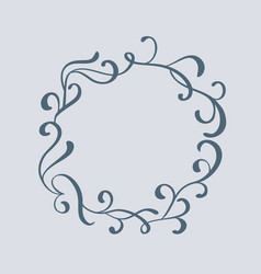 decorative vintage frame and borders art vector image