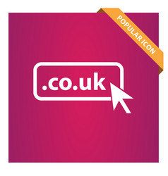 domain co uk icon top-level internet vector image