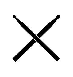 Drum sticks icon vector