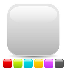 Empty square button or icon backgrounds with vector
