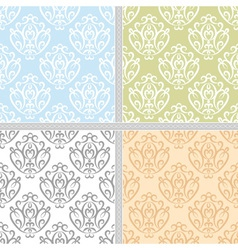 Ethnic seamless pattern collection vector image