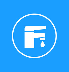 Faucet icon in circle vector